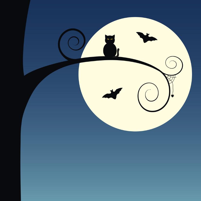 Halloween kaarten - Happy Halloween owl at the moon