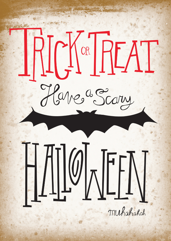 Halloween kaarten - Have a scary Halloween