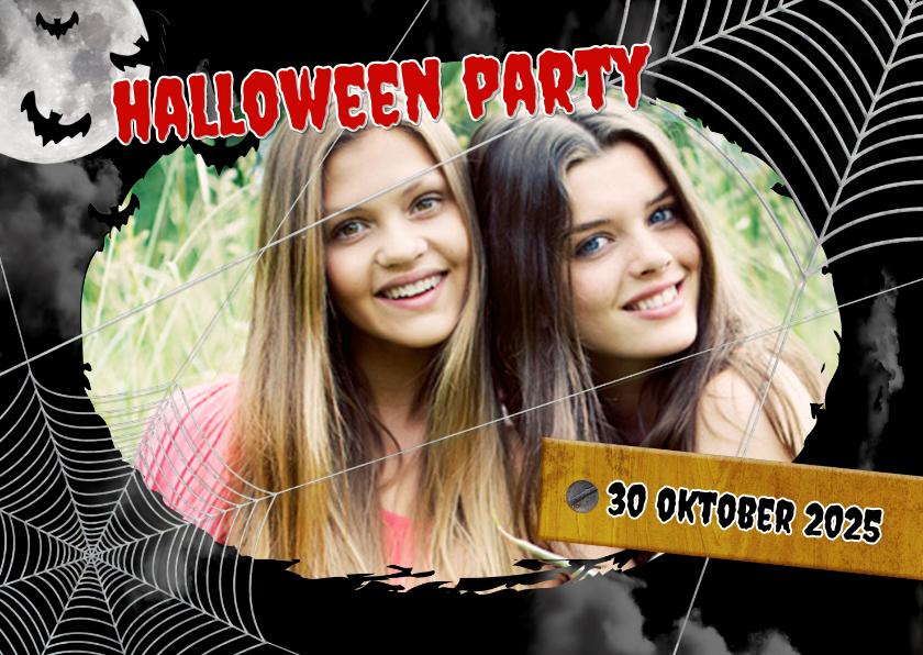 Halloween kaarten - Uitnodiging Halloween feest Foto