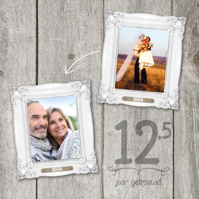Jubileumkaarten - 12,5-jaar-huwelijk-fotolijstjes
