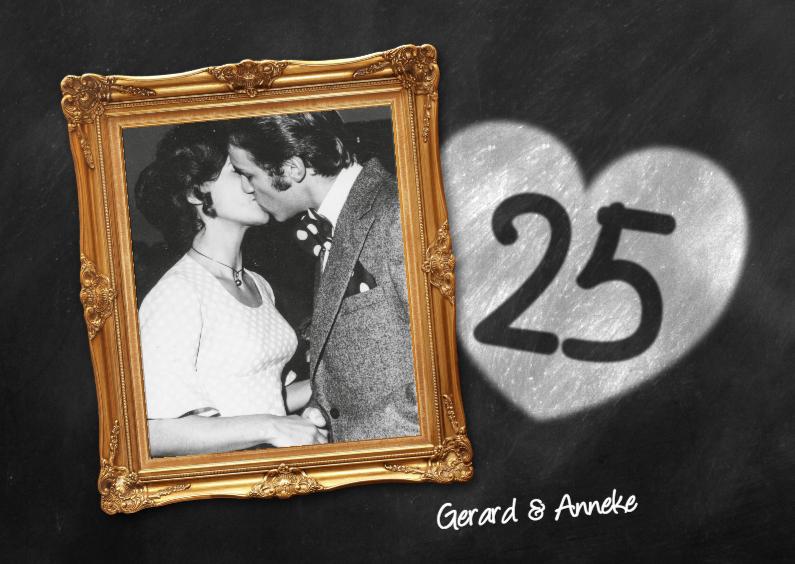 Jubileumkaarten - 25 jaar huwelijk fotolijst