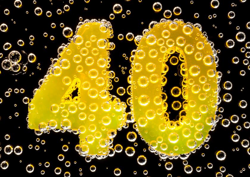 Jubileumkaarten - 40 in feestelijke champagne