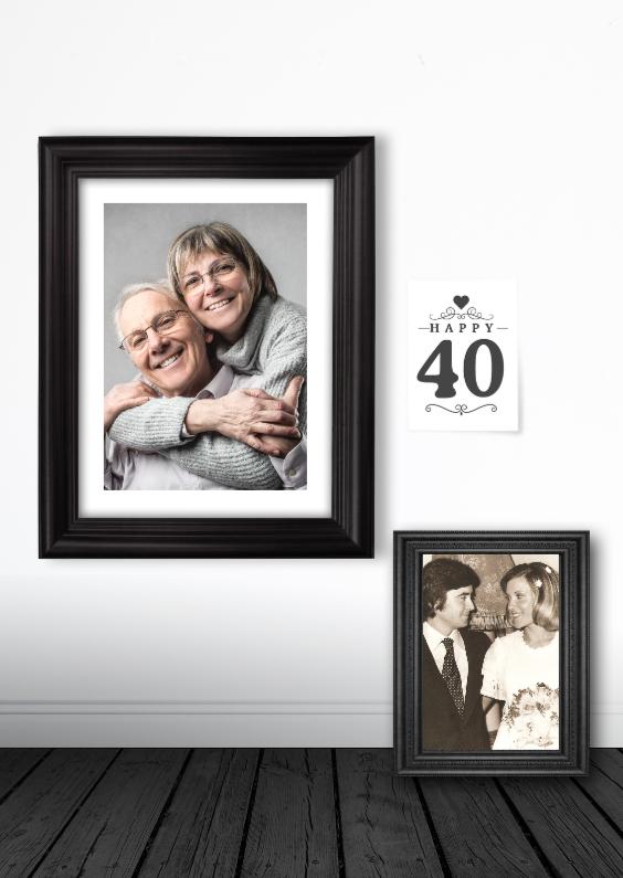 Jubileumkaarten - 40 jaar Uitnodiging fotolijsten