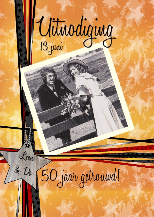Jubileumkaarten - 50 GOUD uitnodiging