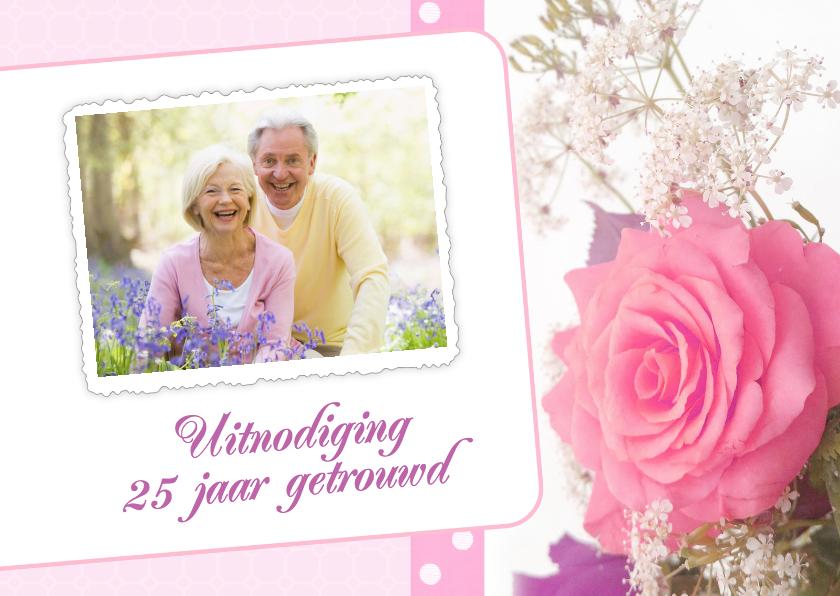 Jubileumkaarten - Bloemenkaart roos - BK