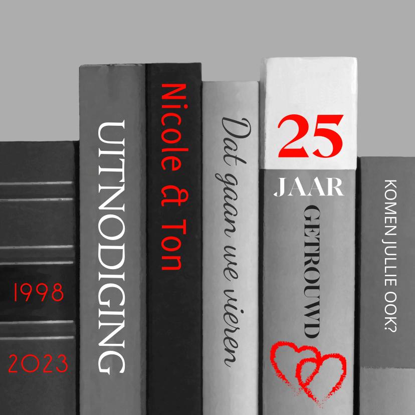 Jubileumkaarten - boeken 25 jaar getrouwd