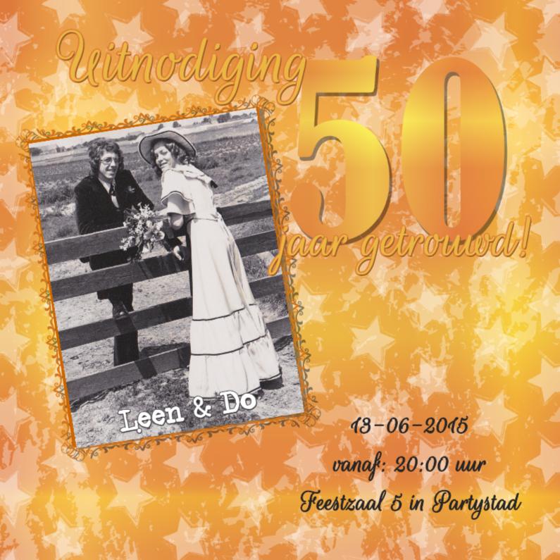 Jubileumkaarten - Feest! 50 jaar getrouwd! goud!