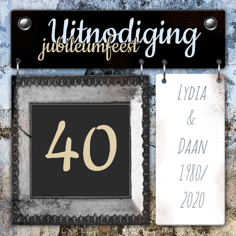 Jubileumkaarten - Feest borden jubileum vintage a