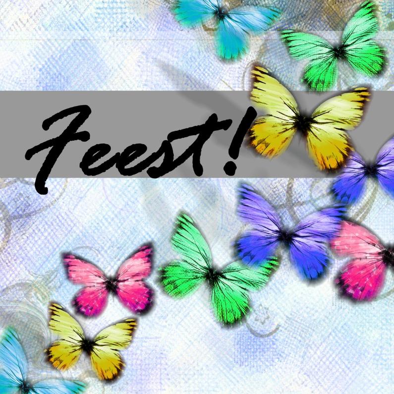Jubileumkaarten - feest vlinders