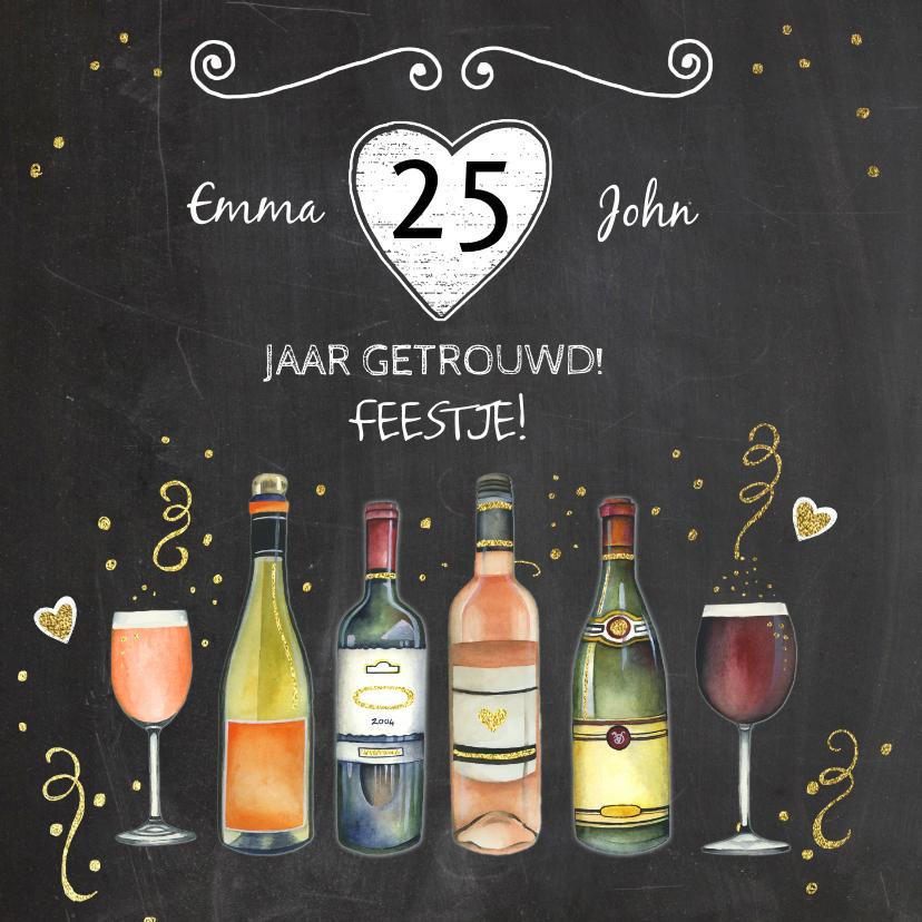 Jubileumkaarten - Feest wijn jubileum