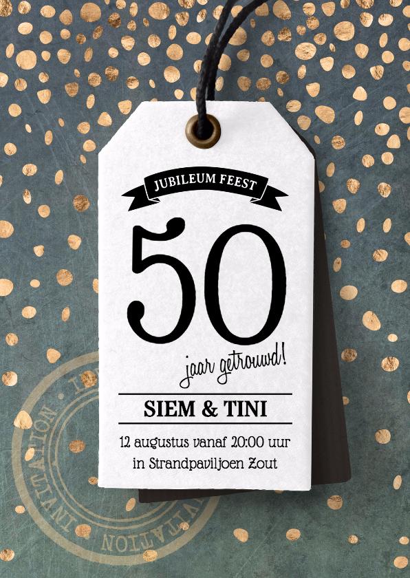 Jubileumkaarten - Feestelijke uitnodiging huwelijksjubileum