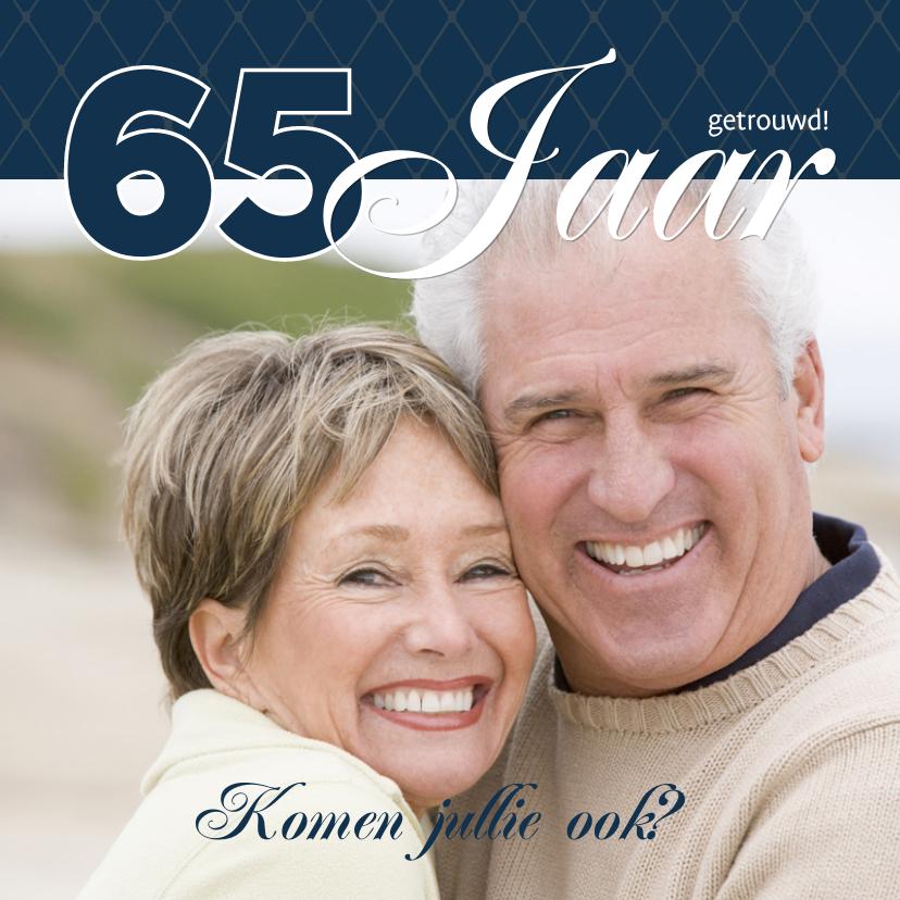 Jubileumkaarten - Foto 4kant Huwelijk blauw - BK