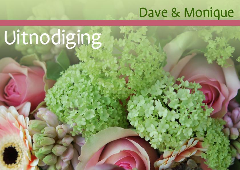 Jubileumkaarten - Fotokaart huwelijksjubileum gr roze
