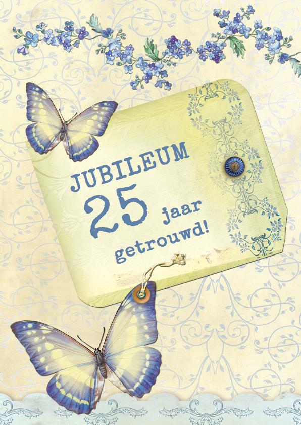 Jubileumkaarten - Huwelijksjubileum  25 vlinders - SG