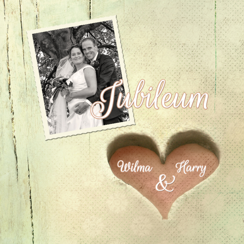 Jubileumkaarten - Huwelijksjubileum hart xx jaar