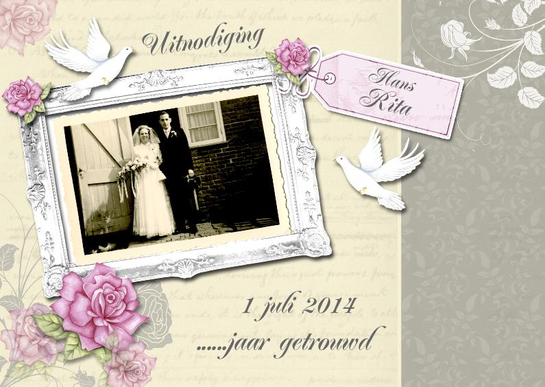 Jubileumkaarten - huwelijksjubileum jaar getrouwd
