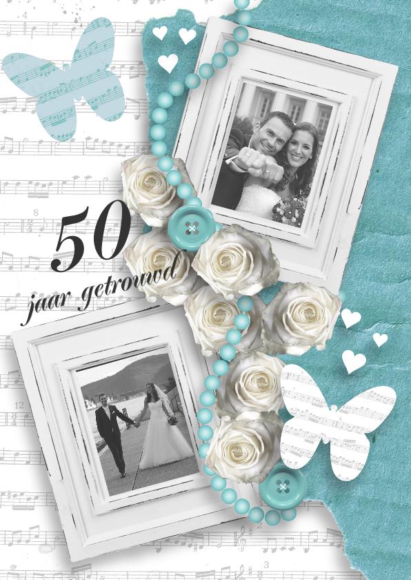 Jubileumkaarten - Huwelijksjubileum rozen foto's romantisch