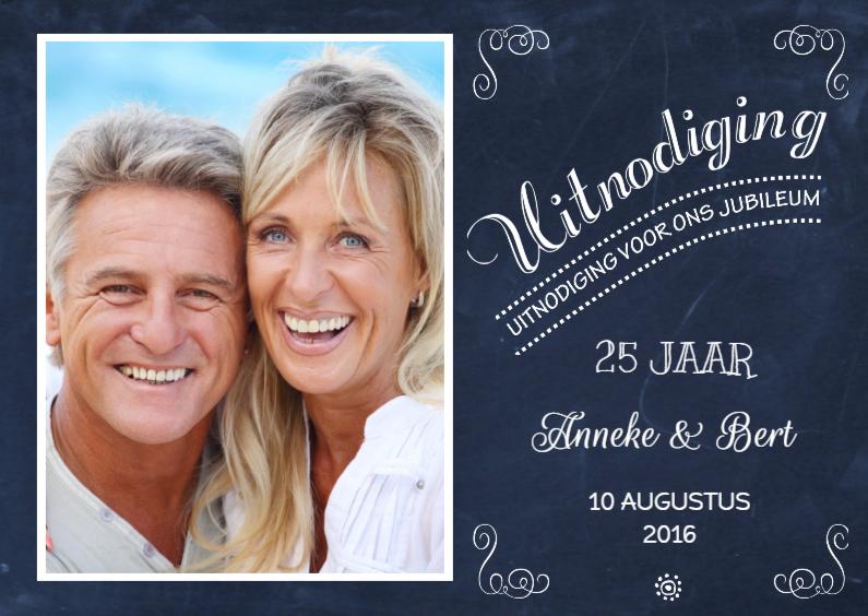 Jubileumkaarten - Huwelijksjubileum Schoolbord