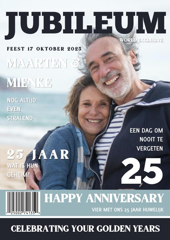 Jubileumkaarten - Huwelijksjubileum Tijdschrift