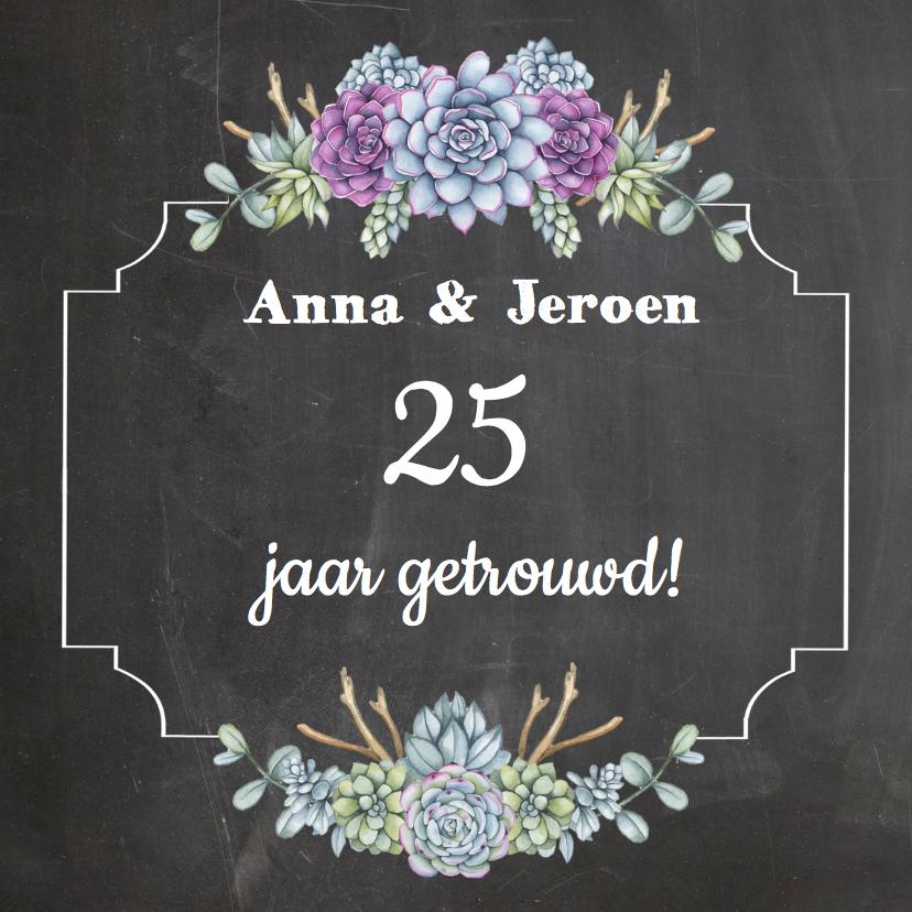 Jubileumkaarten - Huwelijksjubileum vetplantjes
