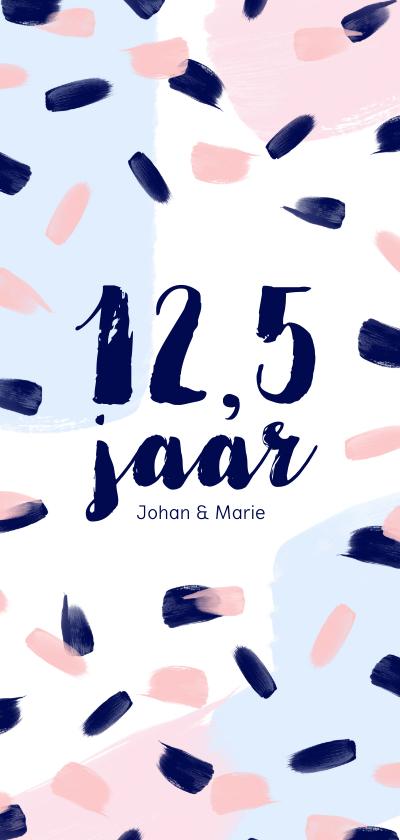 Jubileumkaarten - Jubileum 12,5 jaar eighties pastel