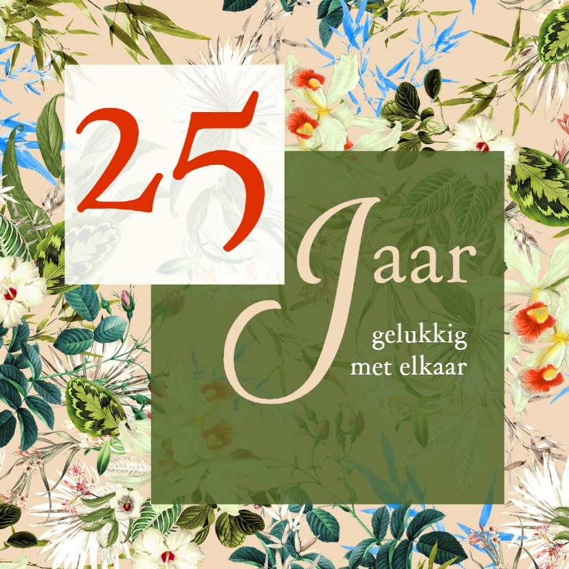 Jubileumkaarten - Jubileum 25 jaar gelukkig met elkaar