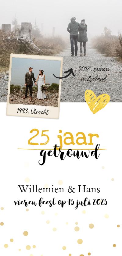 Jubileumkaarten - Jubileum - 25 jaar samen foto langwerpig