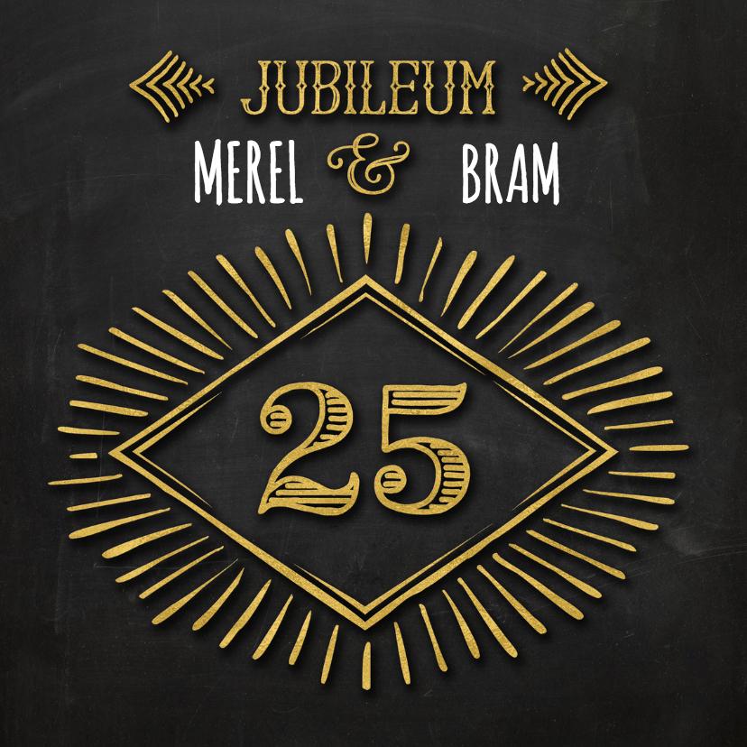 Jubileumkaarten - Jubileum 25 krijt goud - SG