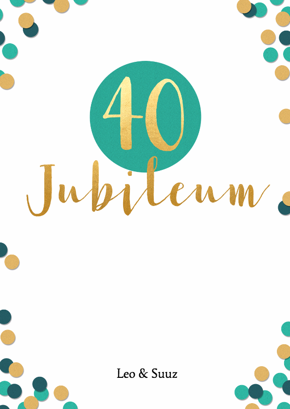 40 jaar werk jubileum Afbeelding Jubileum 40 Jaar In Dienst   ARCHIDEV 40 jaar werk jubileum