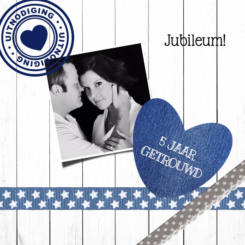 Jubileumkaarten - Jubileum 5 jaar huwelijk - DH