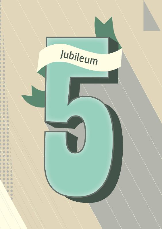 Jubileumkaarten - Jubileum-5 vijf jaar!-HK