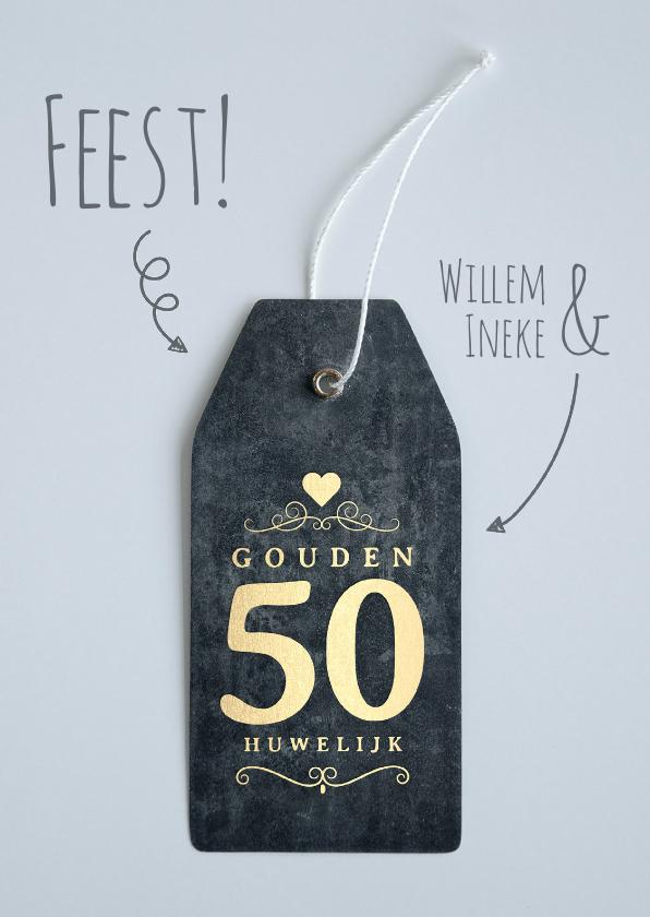 Jubileumkaarten - Jubileum 50 jaar huwelijk label