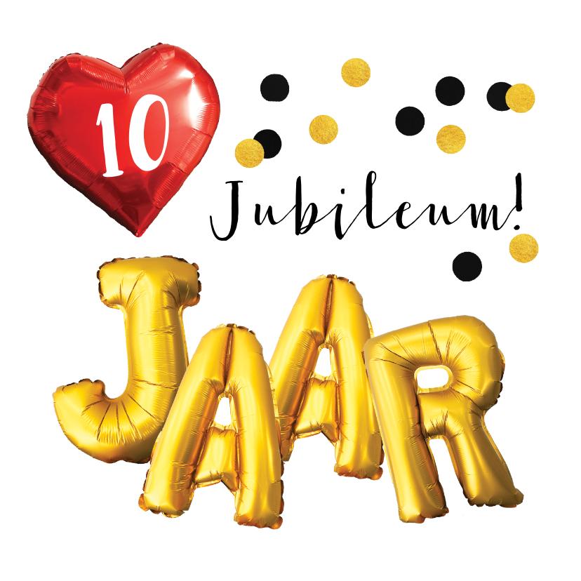 Jubileumkaarten - Jubileum felicitatie aantal jaar zelf invullen