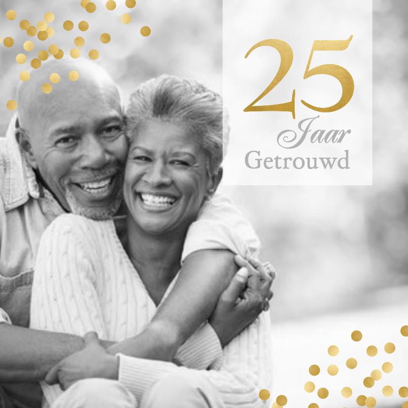 Jubileumkaarten - Jubileum grote foto 25 jaar