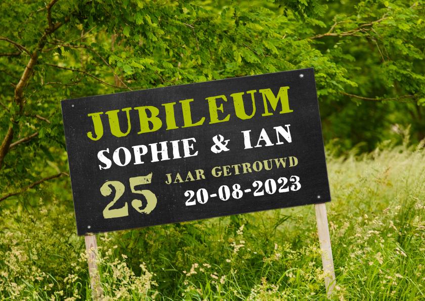 Jubileumkaarten - Jubileum krijtbord natuur groen