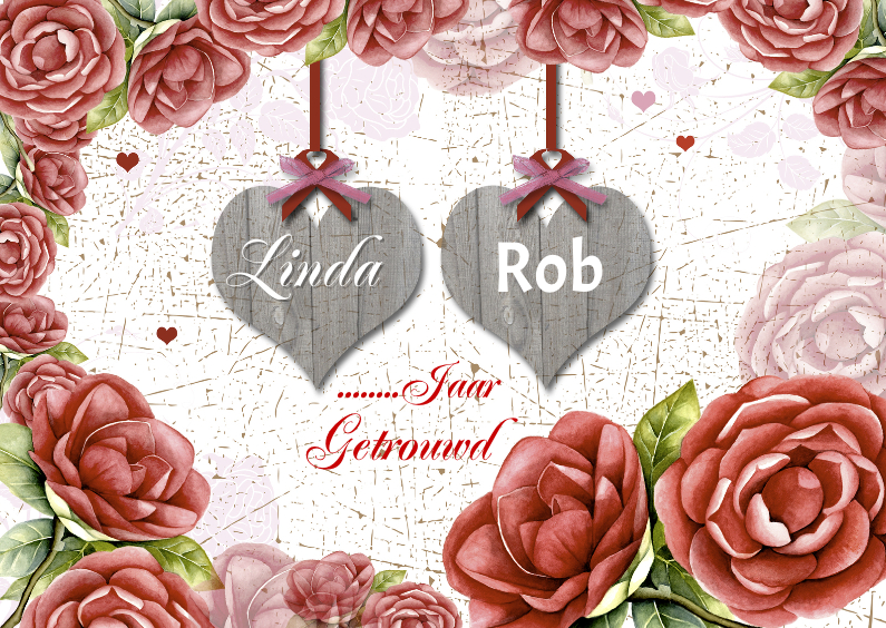 Jubileumkaarten - jubileum rozen