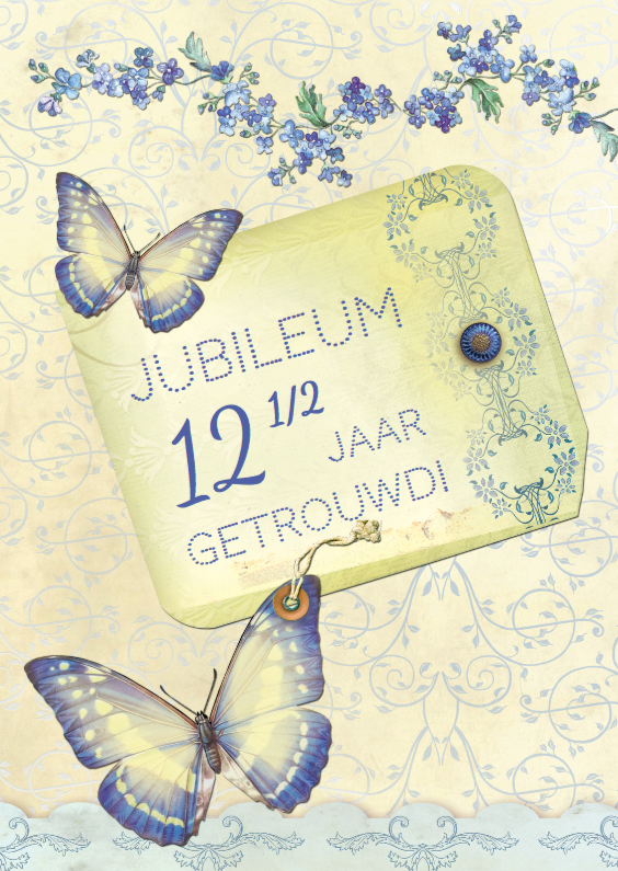 Jubileumkaarten - Jubileum Scrapbook 12,5 vlinders - SG
