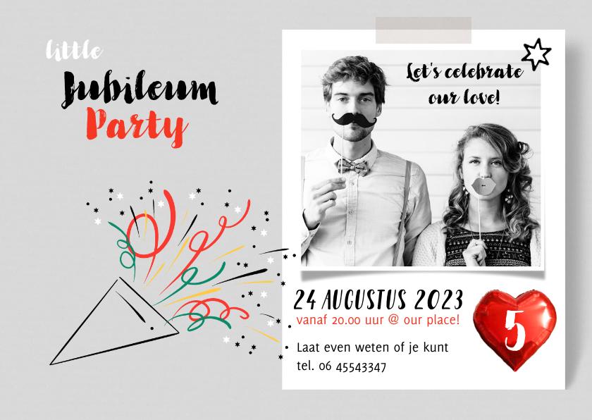 Jubileumkaarten - Jubileum uitnodiging borrel party