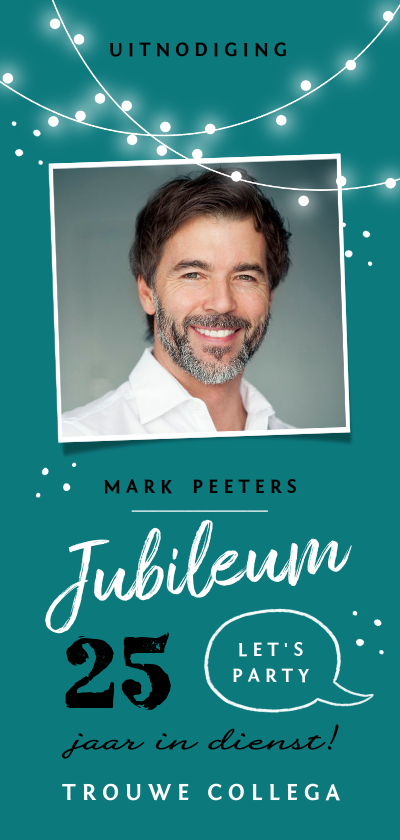 Jubileumkaarten - Jubileum werk uitnodiging feestelijk x jaar in dienst