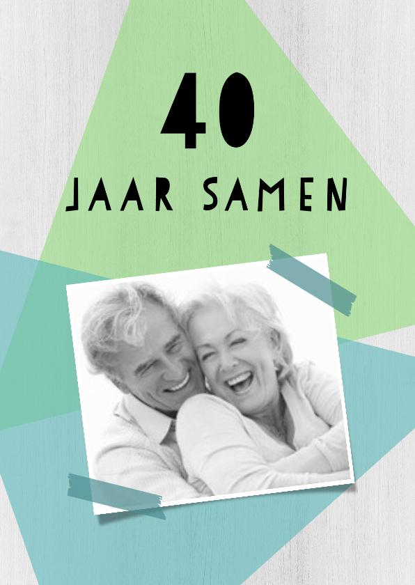 Jubileumkaarten - Jubileumkaart 40 jarig huwelijk geometrisch - DH