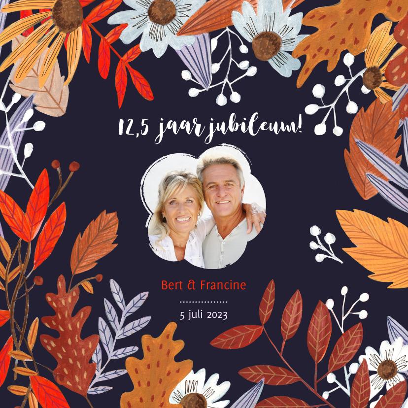 Jubileumkaarten - Jubileumkaart herfstbladeren