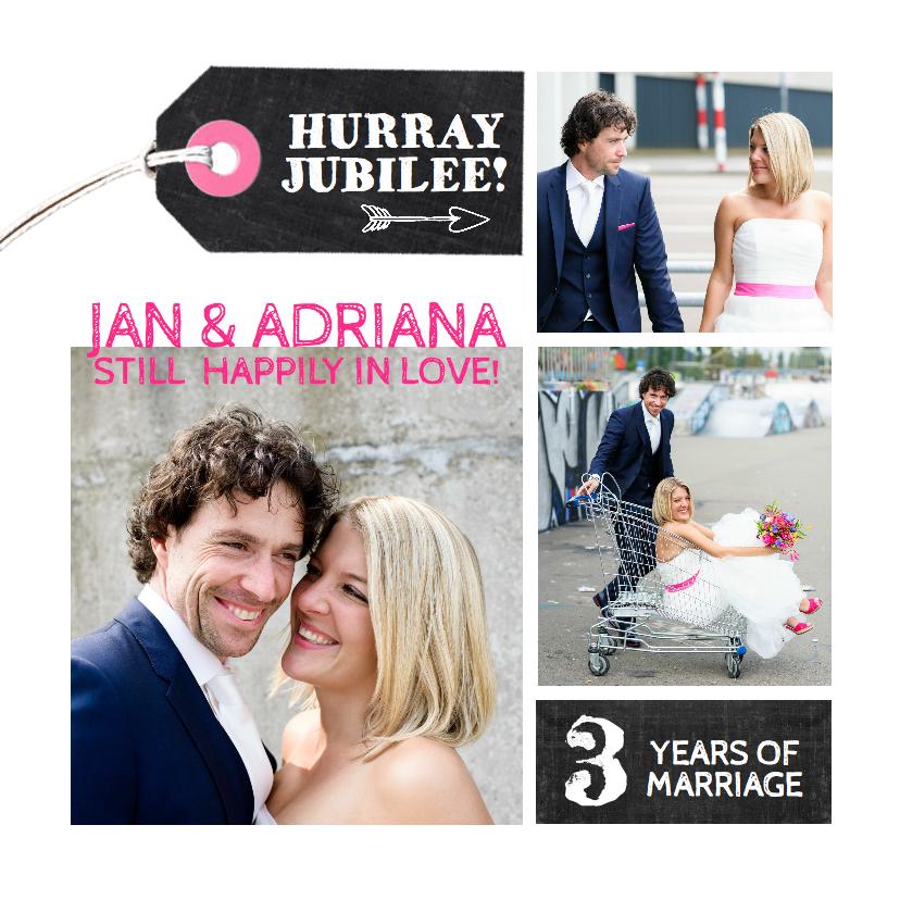 Jubileumkaarten - Jubileumkaart huwelijk collage