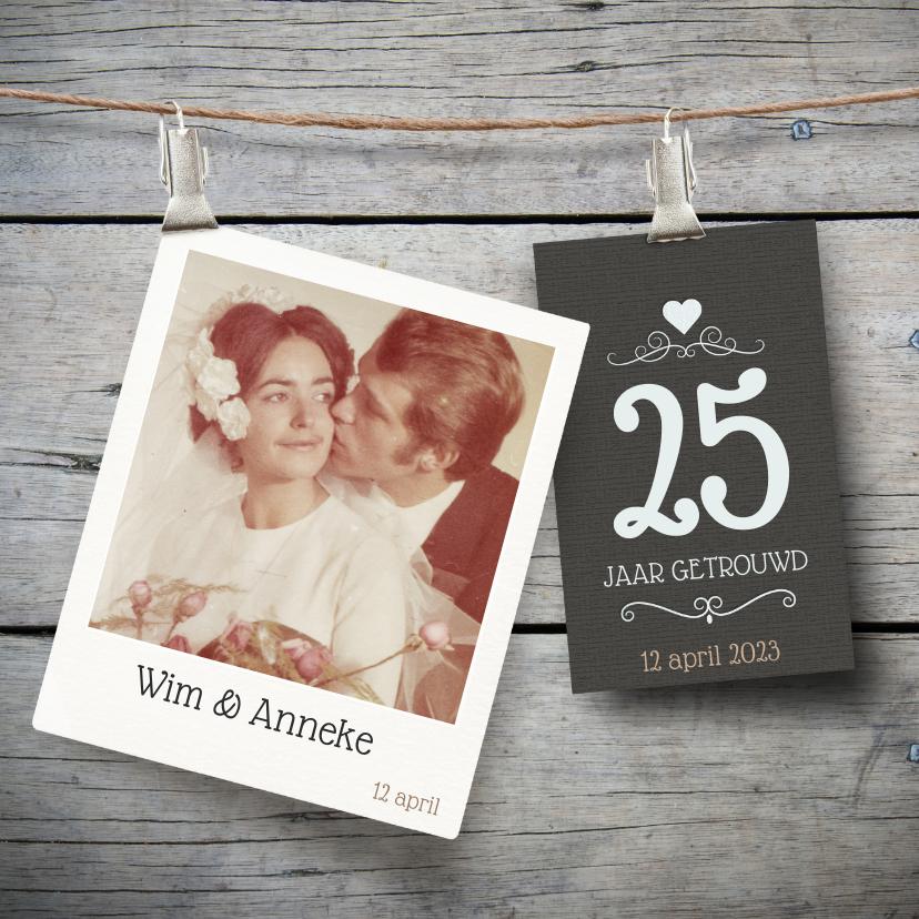 Jubileumkaarten - Jubileumkaart jaar getrouwd