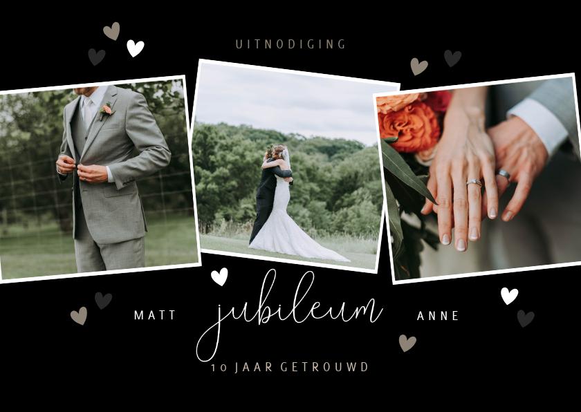 Jubileumkaarten - Jubileumkaart met fotocollage en hartjes