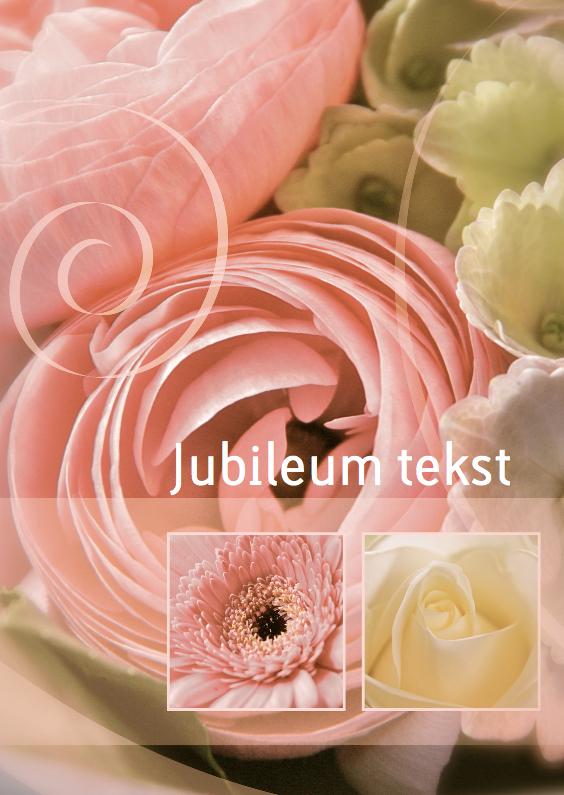 Jubileumkaarten - Jubileumkaart sepia ranonkel