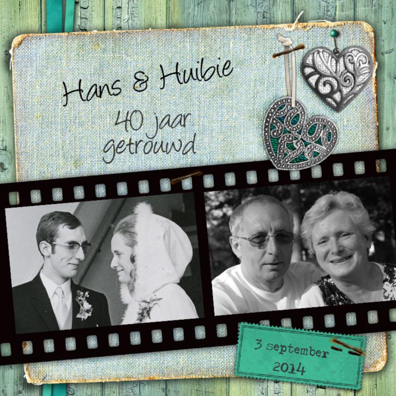 Jubileumkaarten - jubileumkaart trouwdag jubileum