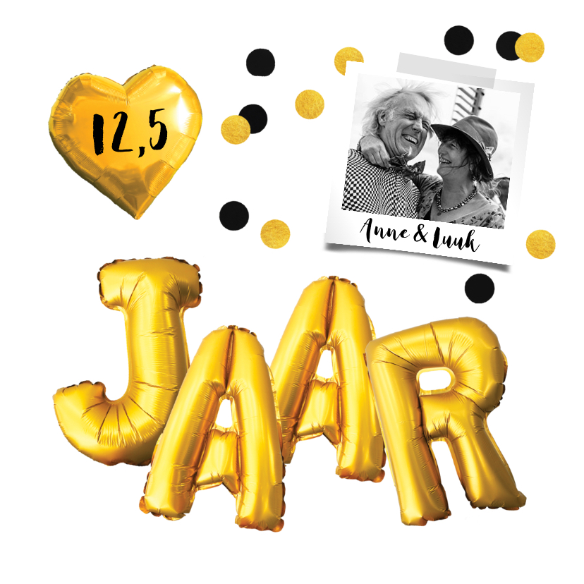 Jubileumkaarten - Jubileumkaart trouwdag uitnodiging feest goud