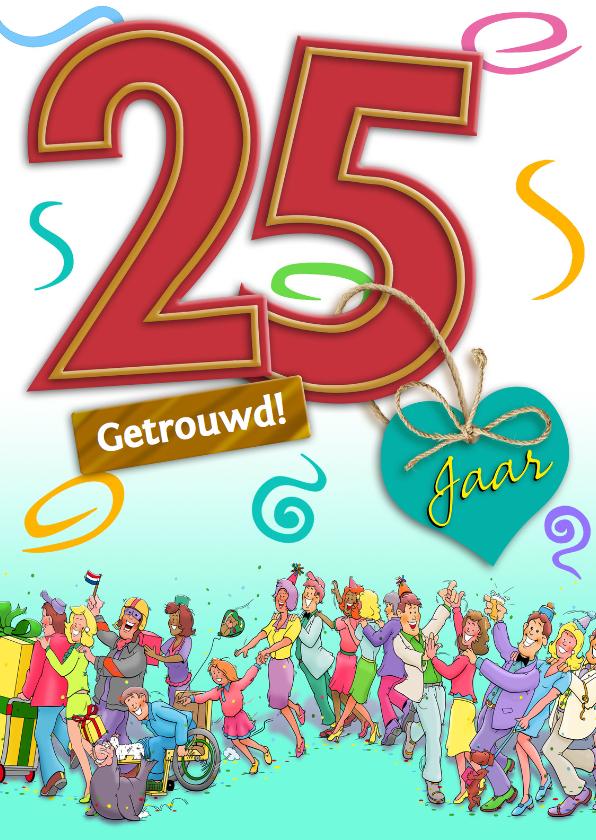Jubileumkaarten - Jubileumkaart uitnodiging feest 25 jaar samen