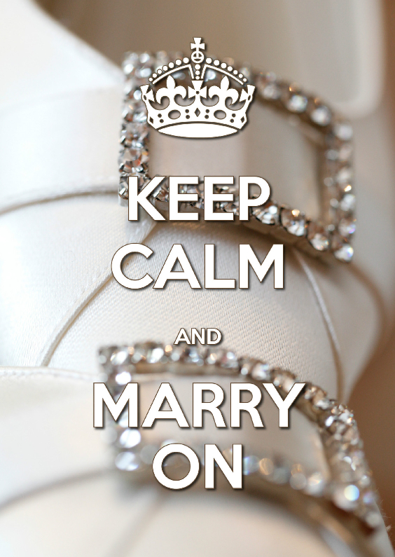 Jubileumkaarten - Keep Calm and Marry On