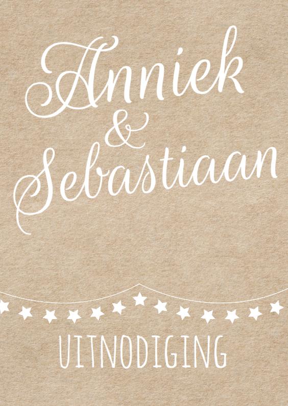 Jubileumkaarten - Kraft design jubileumkaart met slinger